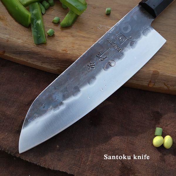 Japanese Handmade 3 Layers AUS10 High Carbon Santoku Knife [7 inch]