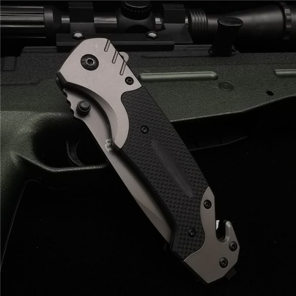 23CM (9') 58HRC Folding Knife Pipe Cutter Pocket Knives G10 Handle Tactical Outdoor Survival Combat EDC Hunting Folding Knifes