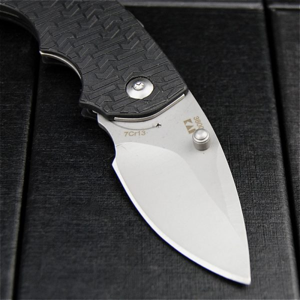 3800 58HRC oxidation 7 cr13v steel black folding outdoor knife [sharp hunting knife EDC pocket folding knife]
