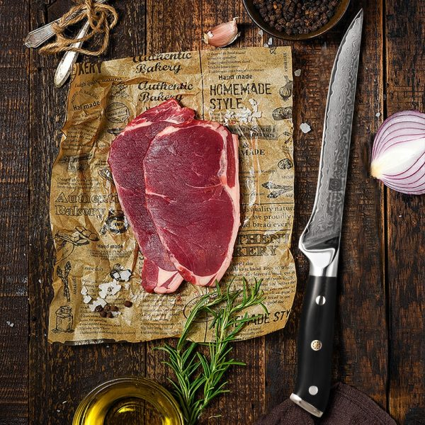 FANGZU 8PCS Japanese Premium Kitchen Knives Sets 67 Layers vg10 Damascus Stainless Steel Knife