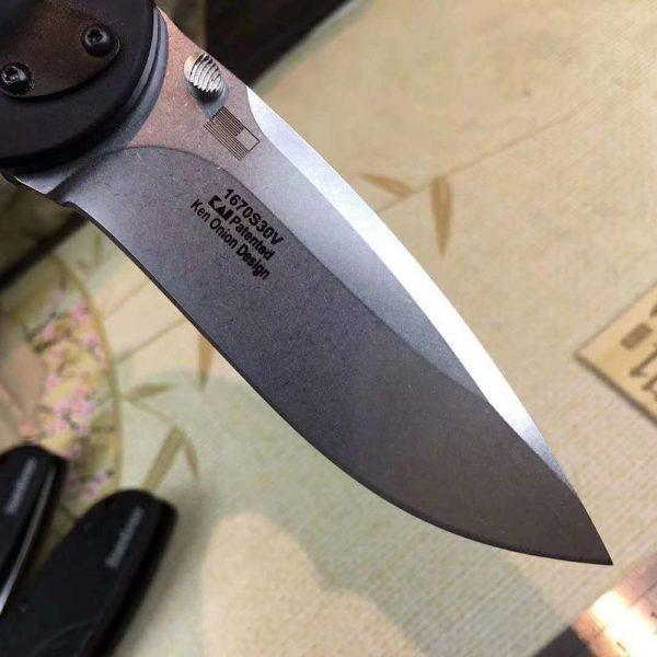 OEM 1670 Tactical hunting Folding knife [Black Aluminum Tractec Handle Camping knife EDC]