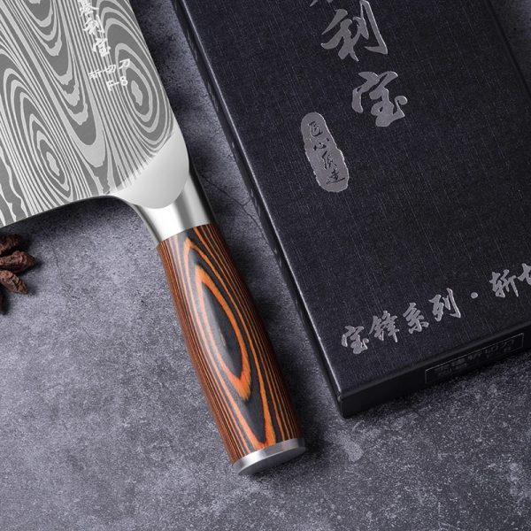 Deng High-grade handmade carbon steel Chinese Cleaver chef knife