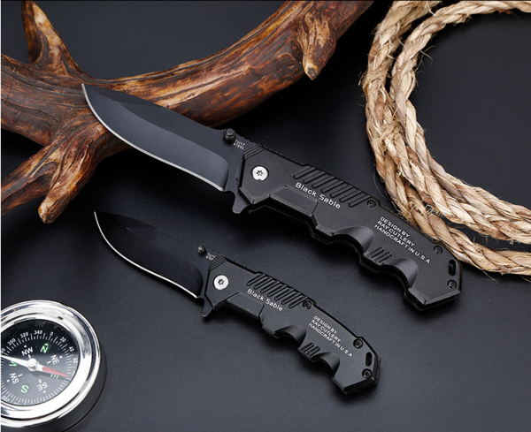 Edc Multi High Hardness 57HRC Folding Tactical Survival Knives [Best for Knife for Hunting, Camping, Military Survival Knife Pocket]