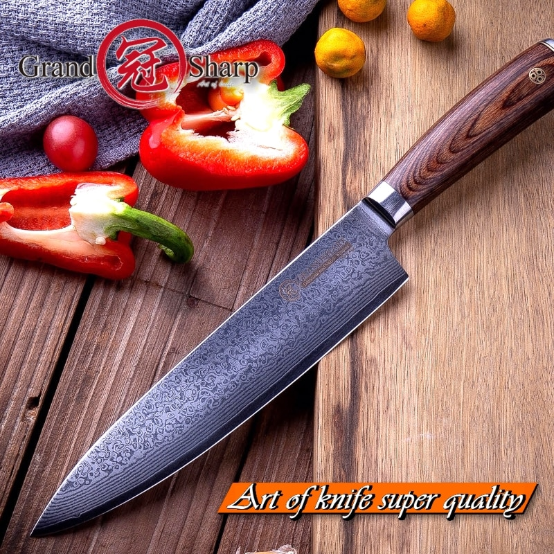 Handful Japanese VG10 Damascus Kitchen Knives Chef Knife 8 Inch Gift Box Blade With Sheath