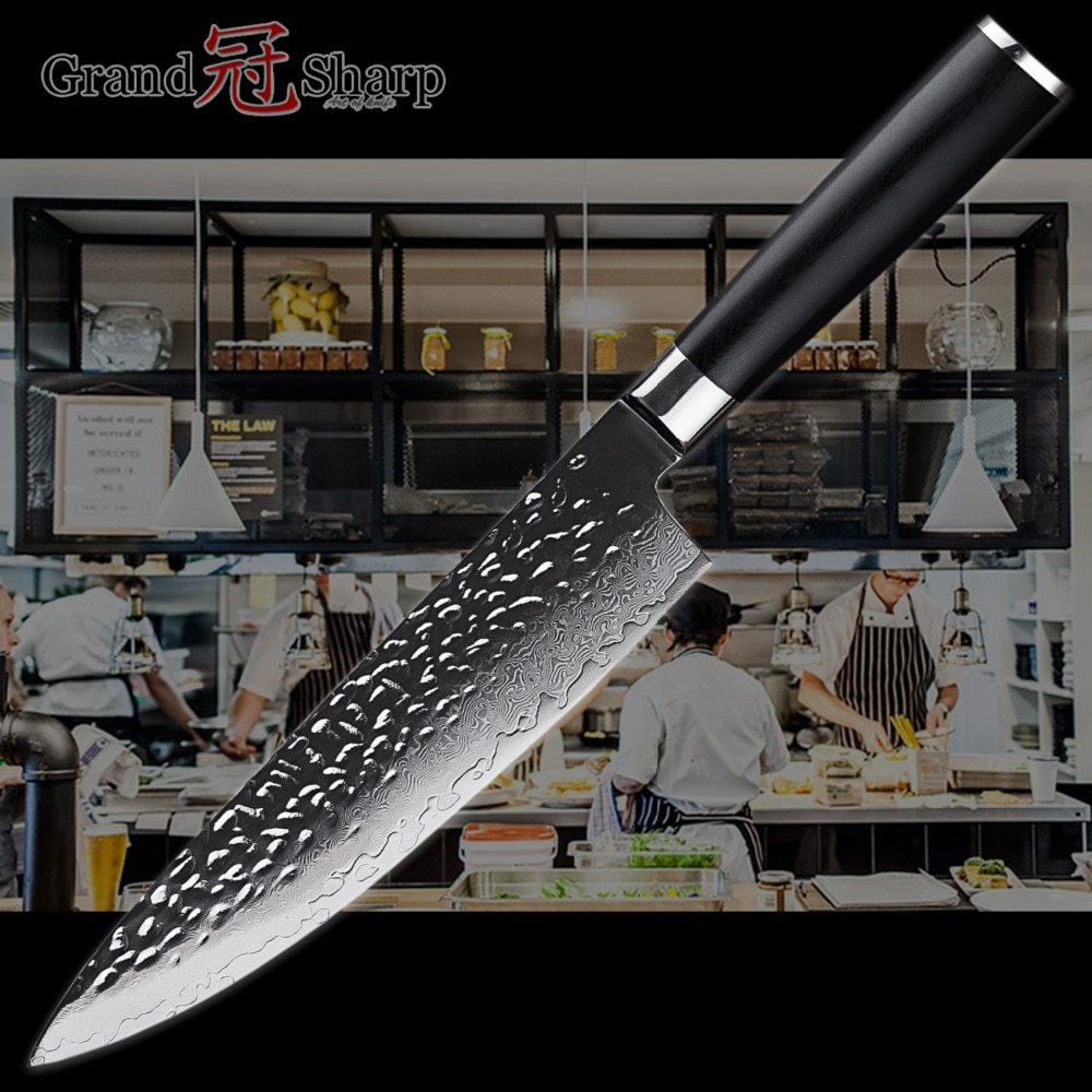 67 Layers Japanese Razor Sharp Damascus Kitchen/Chef Knife with G10 handle