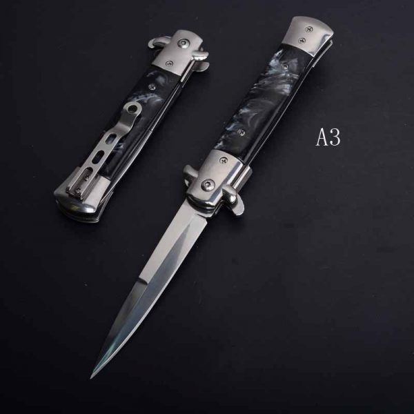 PEGASI CS claw quick folding 440C acrylic wood handle pocket folding knife for camping hunting survival EDC tool