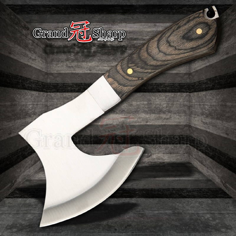 Stainless Steel Chopping Meat/ Bones Survival Axe for Camping /Outdoor/ Hunting Knife