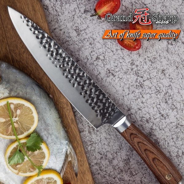 Professional Grade Chef knives vg10 Japanese Damascus Kitchen Knives With Gift Box Protection Sheath