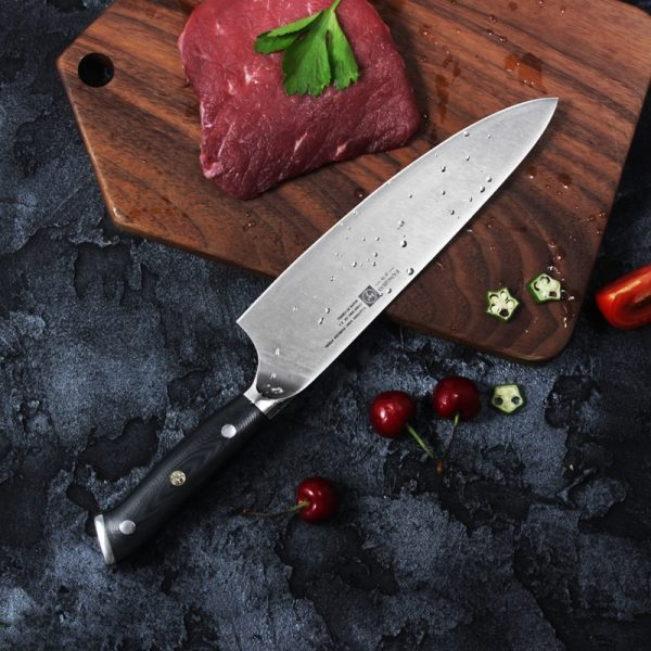 "FANGZUO DIN 1.4116 German Stainless Steel 8"" Chef Knife [G10 Handle]"