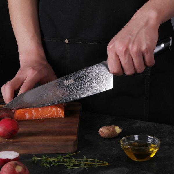 Professional Kitchen Knife set 5 pcs Japanese vg10 steel with ebony rosewood handle fashion luxury Kitchen Knife