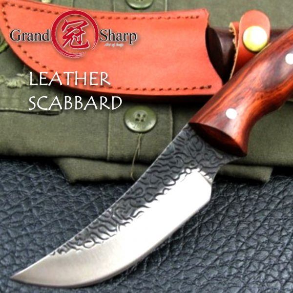 Hunting Knife Fixed Blade High Carbon Steel Butcher Boning East Style Chef Kitchen Tools Wood Handle
