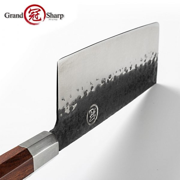 Handmade Chinese Cleaver 7.5 Inch High Carbon 4cr13 Stainless SProfessional Chef Kitchen Knife