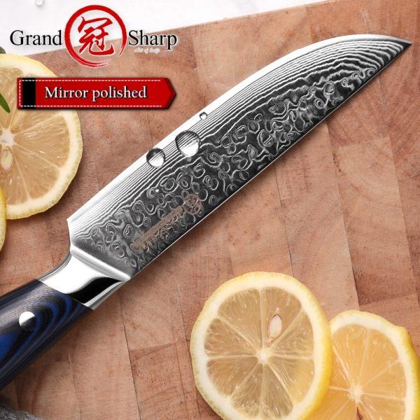 Japanese 33-layer Damascus Steak Knife VG10 Stainless Steel [G10 Handle]