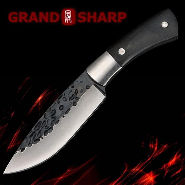 Premium Hunting Knife Leather Scabbard Outdoor Camping Survival Tool BBQ Fishing [Fixed Blade Knives Tactical Equipment]