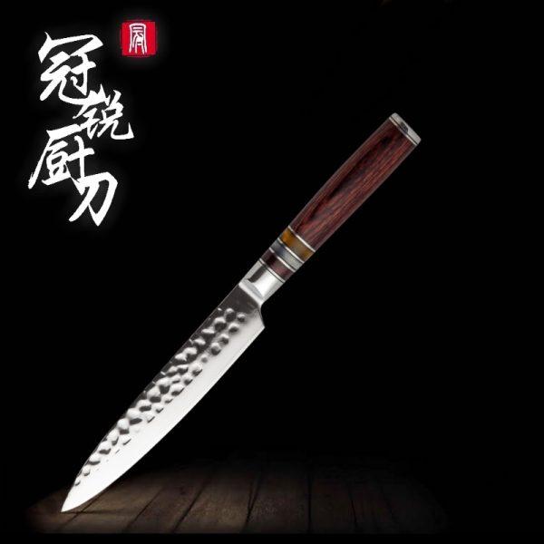 Damascus Chef Knife VG10 Hammered Blade Japanese Kitchen Knives Santoku/Utility/ Professional Chef Knife