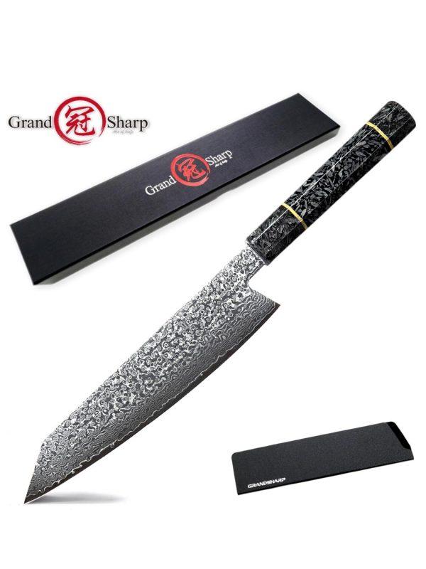 Handmade vg10 Japanese Damascus Steel Kiritsuke Chef Knife Japanesee [Glow Handle Pro]