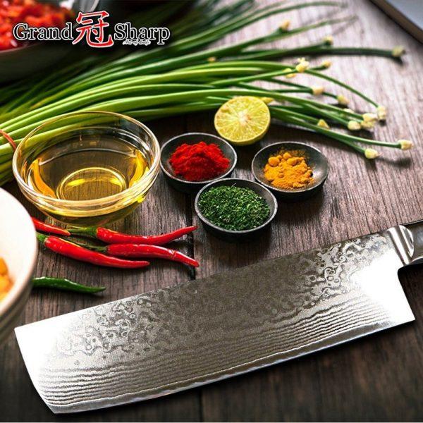 6 PCS Japanese Damascus kitchen knife set VG10 stainless steel Premium Knife Set