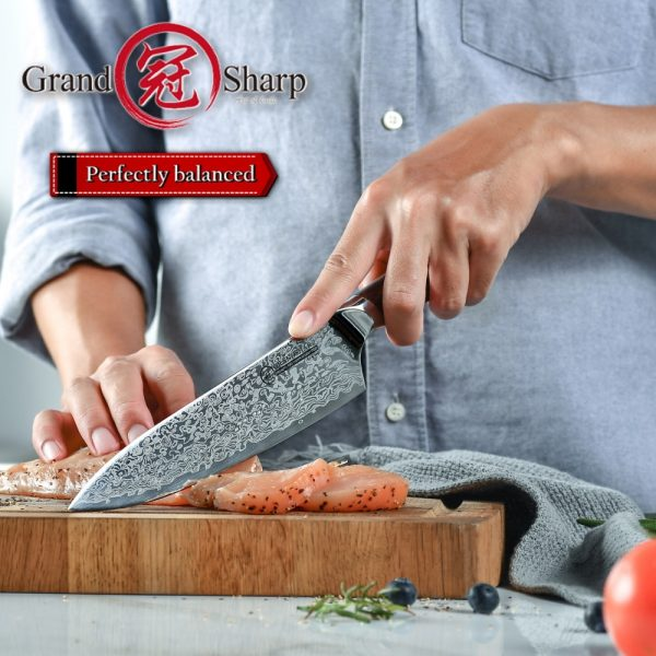 Genuine German Stainless Steel Professional Chef Knife 7.7 inch [Gift Box Sheath NEW]
